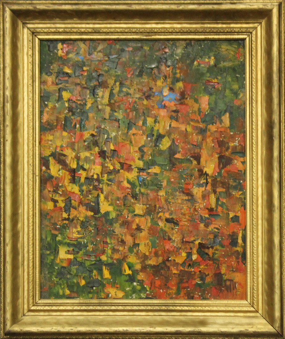 CATHY OBRIEN Mid Century Modern ABSTRACT OIL PAINTING