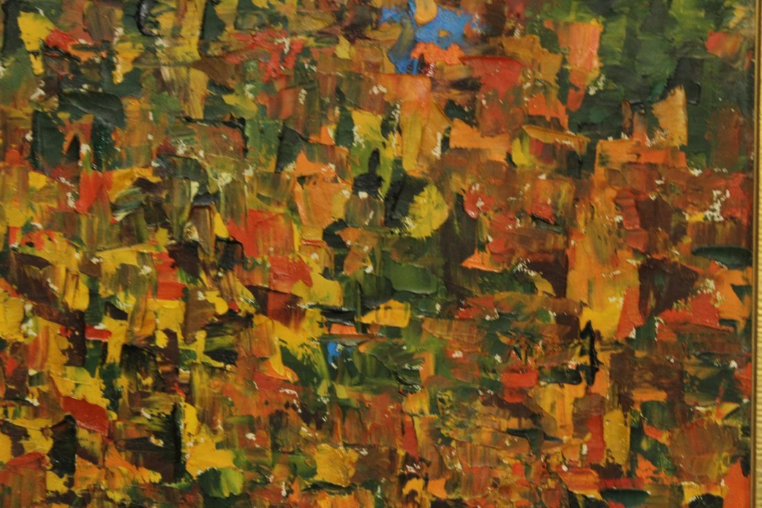 CATHY OBRIEN Mid Century Modern ABSTRACT OIL PAINTING - 2