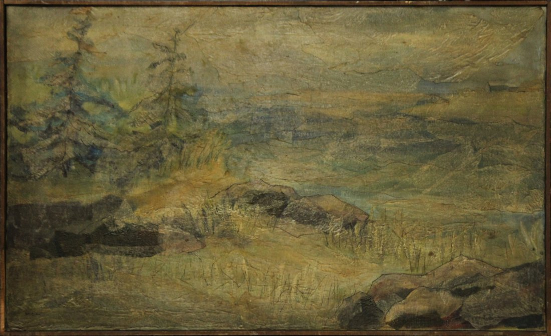 Helen St Clair  (born 1931) Oil IMPRESSIONISM LANDSCAPE