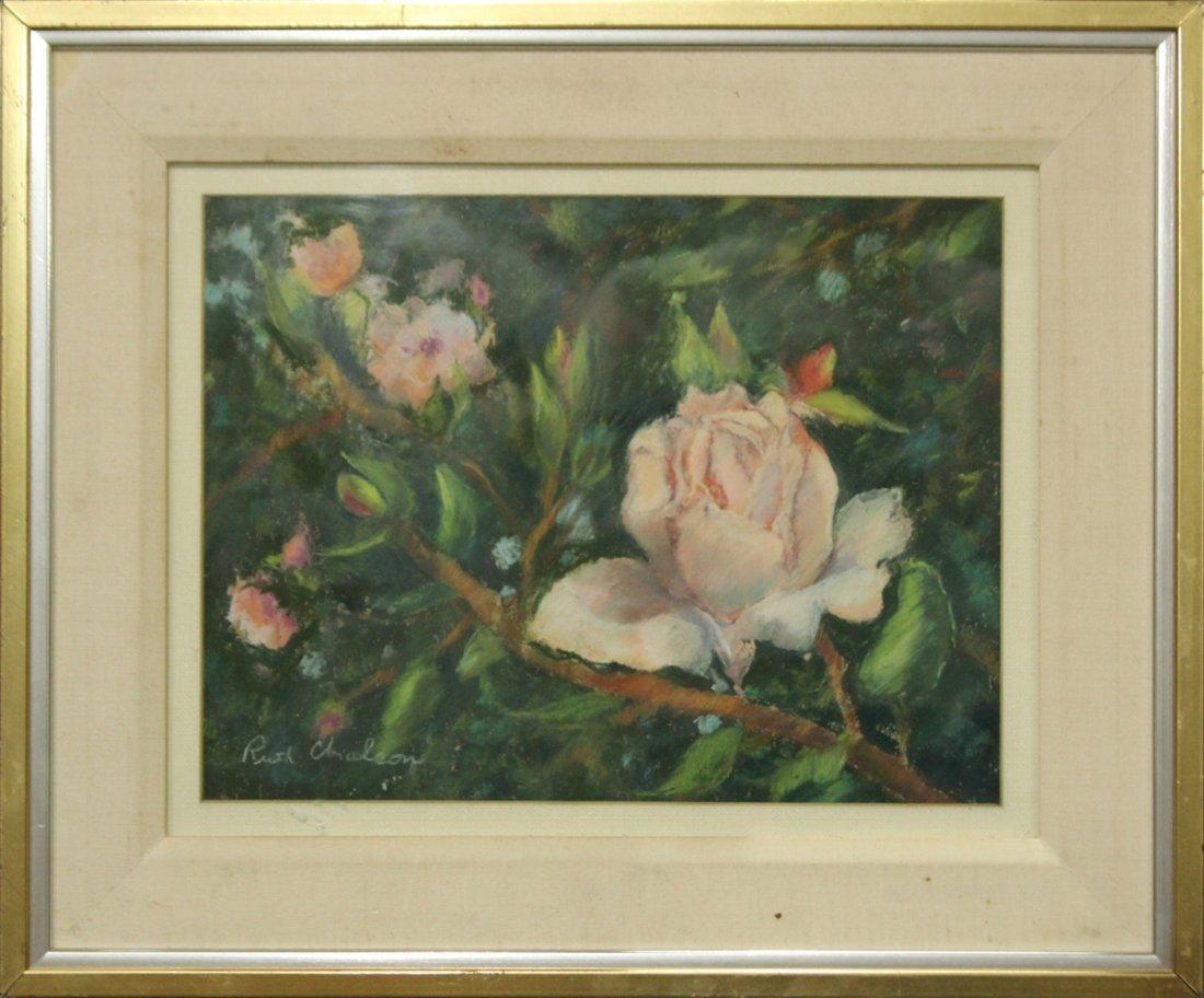 RUTH CHALSON, Fine Pastel THE ROSE - SALMAGUNDI CLUB