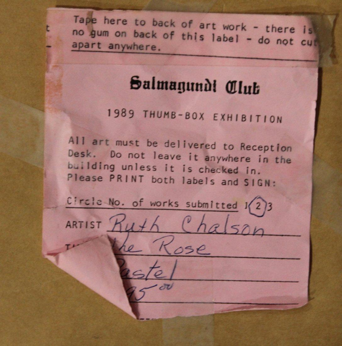 RUTH CHALSON, Fine Pastel THE ROSE - SALMAGUNDI CLUB - 4
