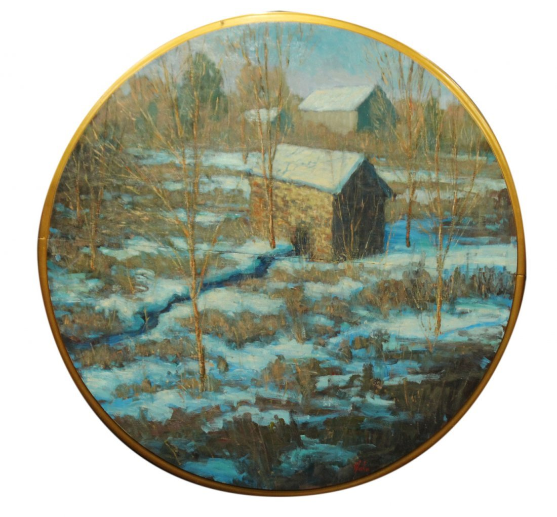DAVID HAHN BUCKS COUNTY PA WINTER OIL ROUND 42 in PANEL