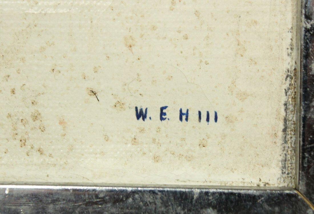 W E H III, MID CENTURY MODERN 4 STRIPED BLOCKS OIL/C - 2