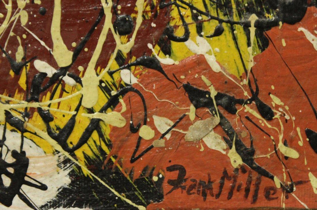 FRANK MILLER, Vintage Mid Century ABSTRACT DRIP ART OIL - 2
