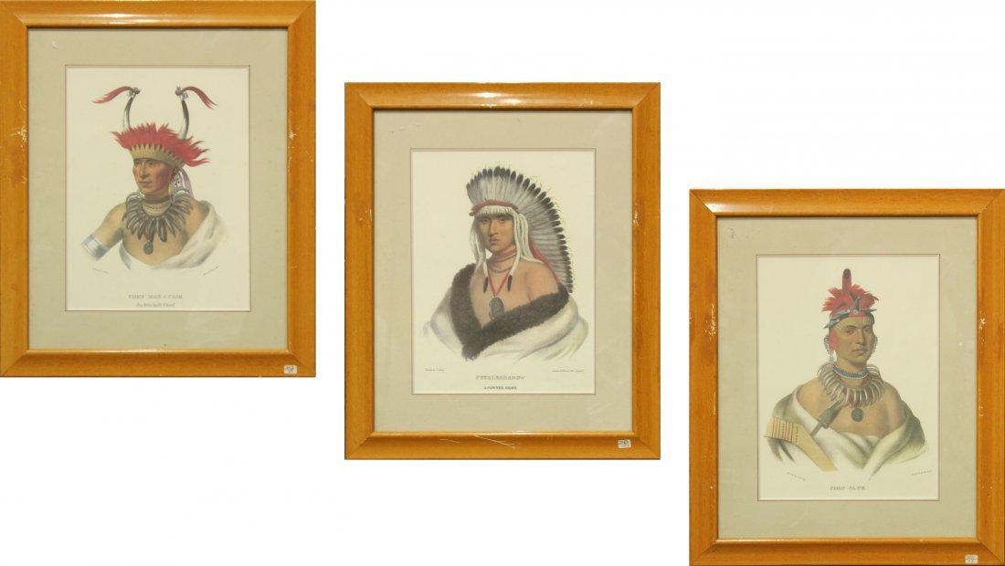 SERIES 3 INDIAN LITHOGRAPHS, CHON-MAN-I-CASE, CHON- CA-
