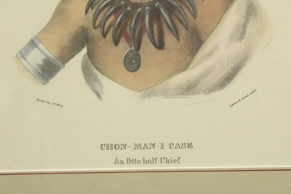 SERIES 3 INDIAN LITHOGRAPHS, CHON-MAN-I-CASE, CHON- CA- - 5