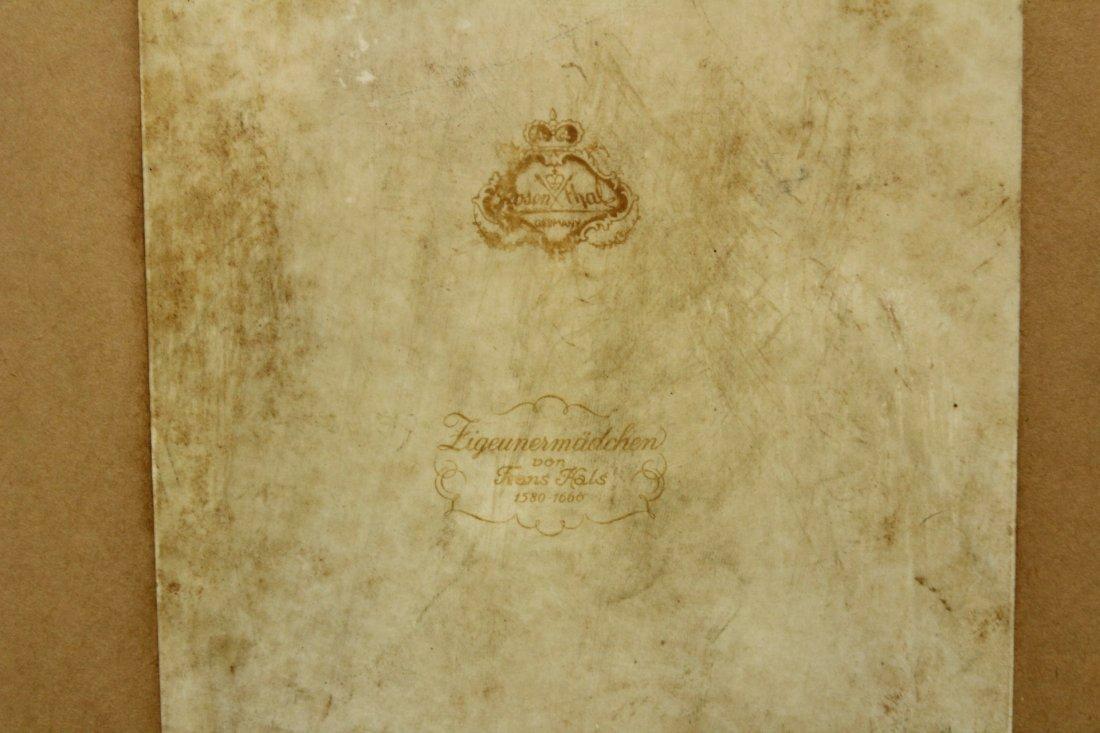 ROSENTHAL PORCELAIN PLAQUE After HANS HALS, Framed - 4
