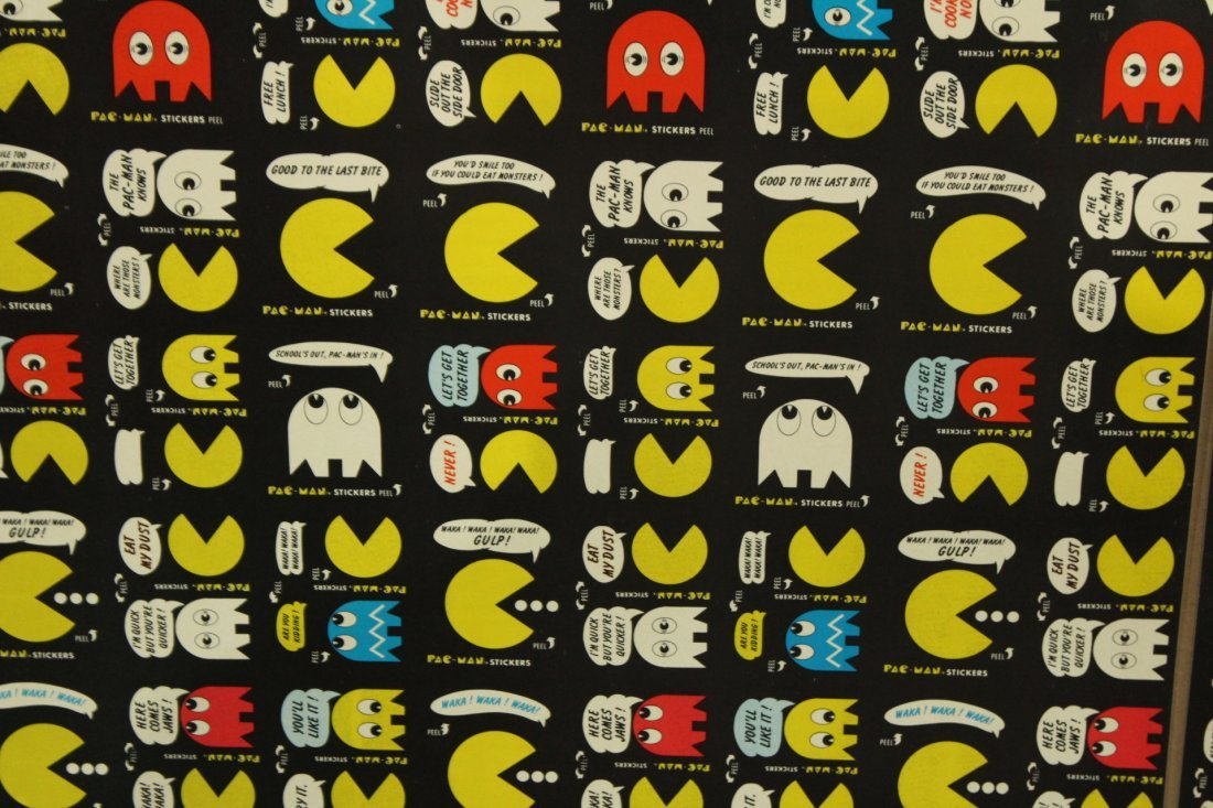 PAC MAN 2 Vintage Uncut Sheets STICKERS / TRADE CARDS - 2
