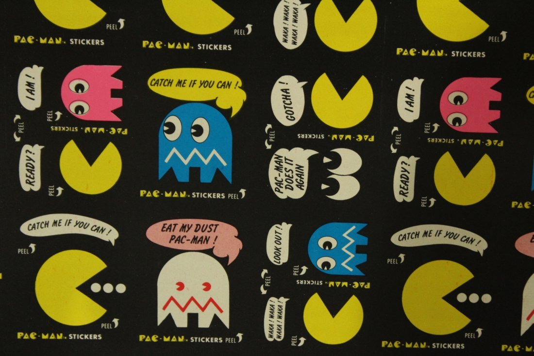 PAC MAN 2 Vintage Uncut Sheets STICKERS / TRADE CARDS - 3