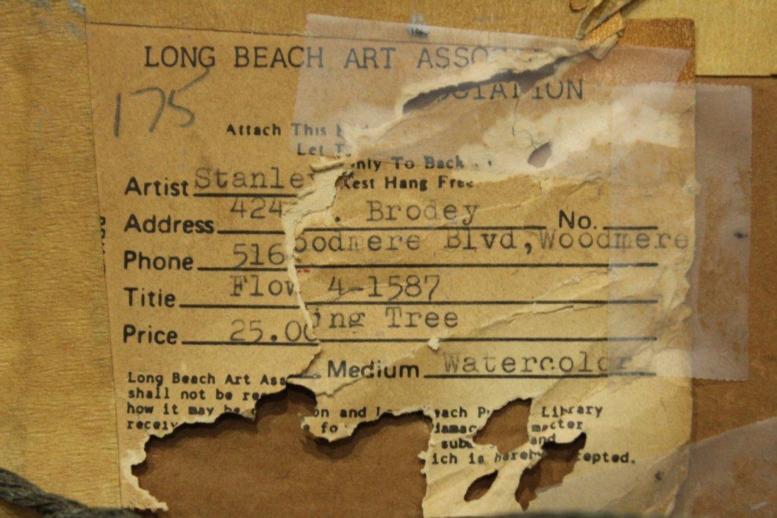 STANLEY BRODEY Listed American Artist WC FLOWERING TREE - 5
