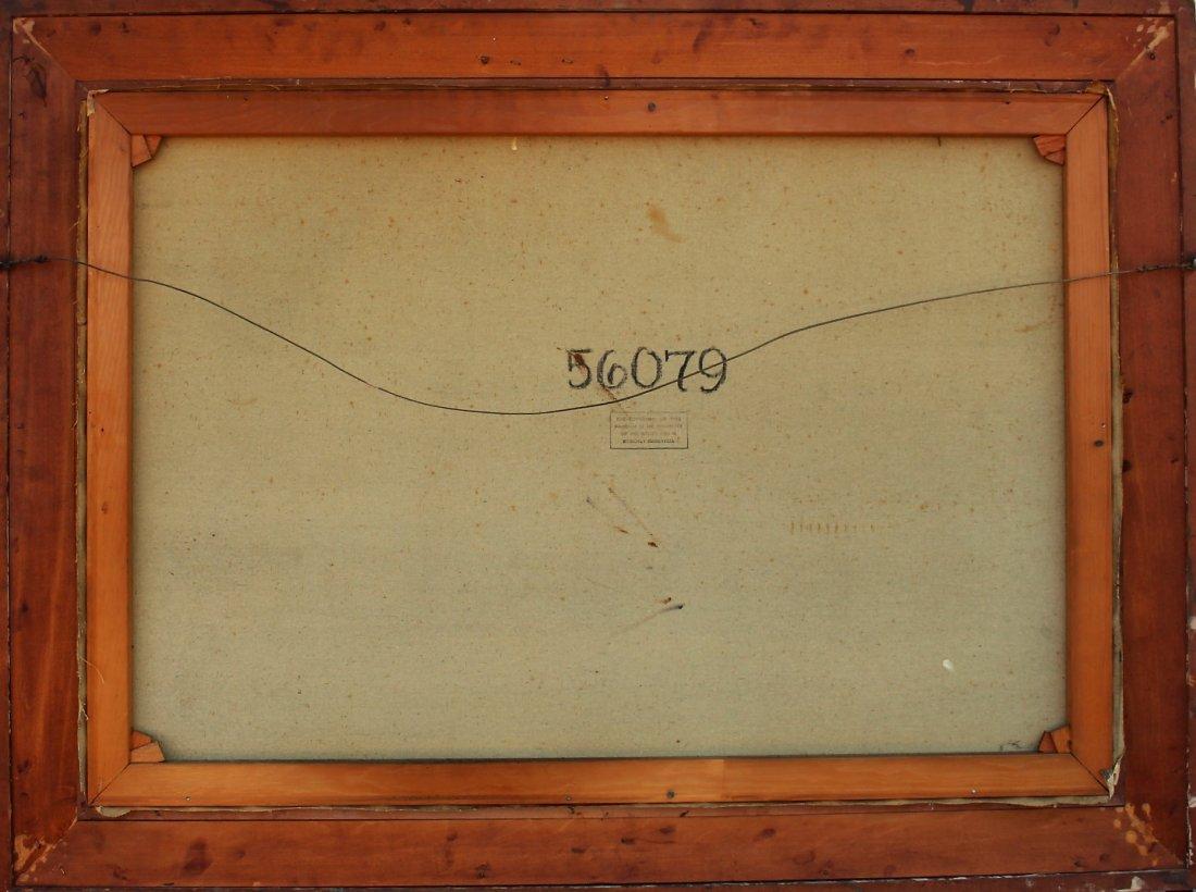 1950s Superb Quality PARISIAN STREET SCENE Signed Illeg - 7