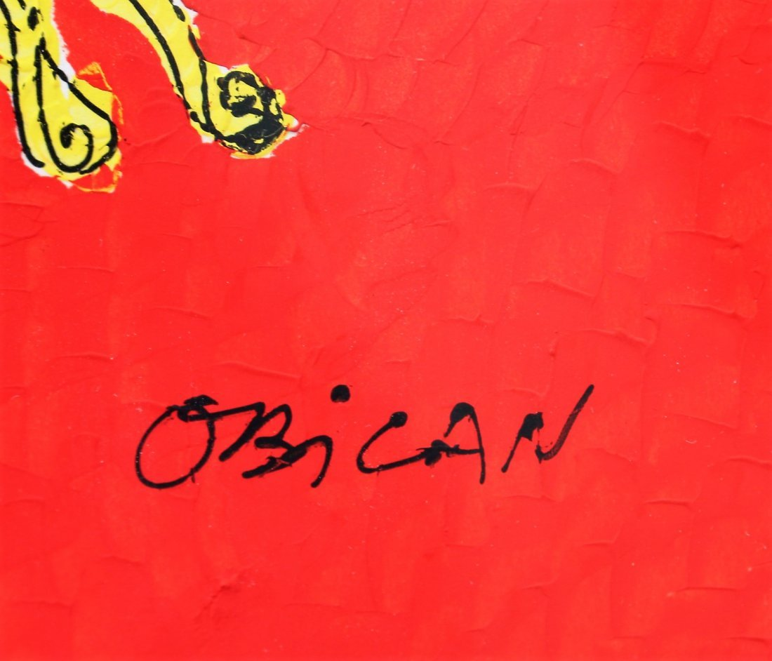 Jovan Obican  (1918 - 1986) Acrylic HASIDAC MUSICIANS - 3
