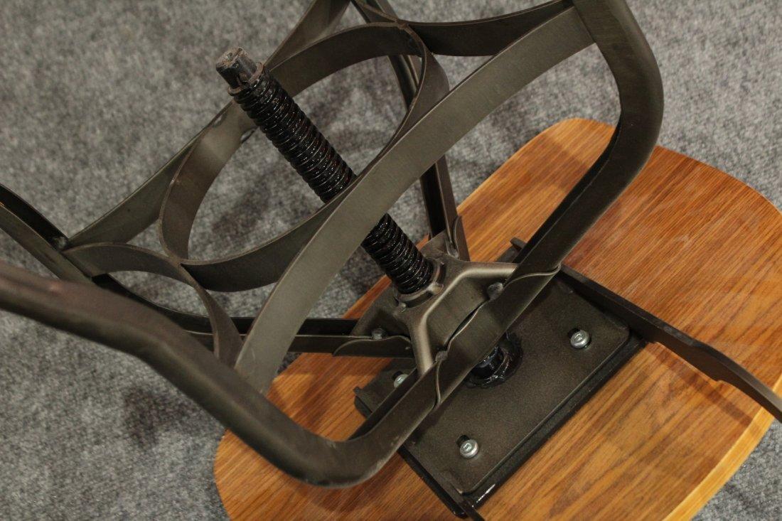 7 Mid-century modern style industrial adjustable stools - 10