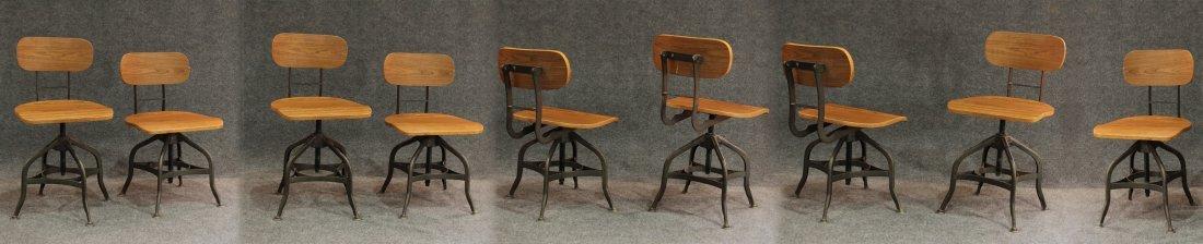 7 Mid-century modern style industrial adjustable stools