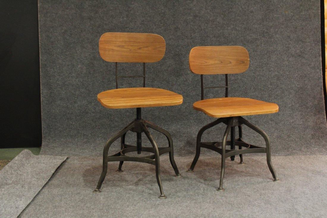 7 Mid-century modern style industrial adjustable stools - 2