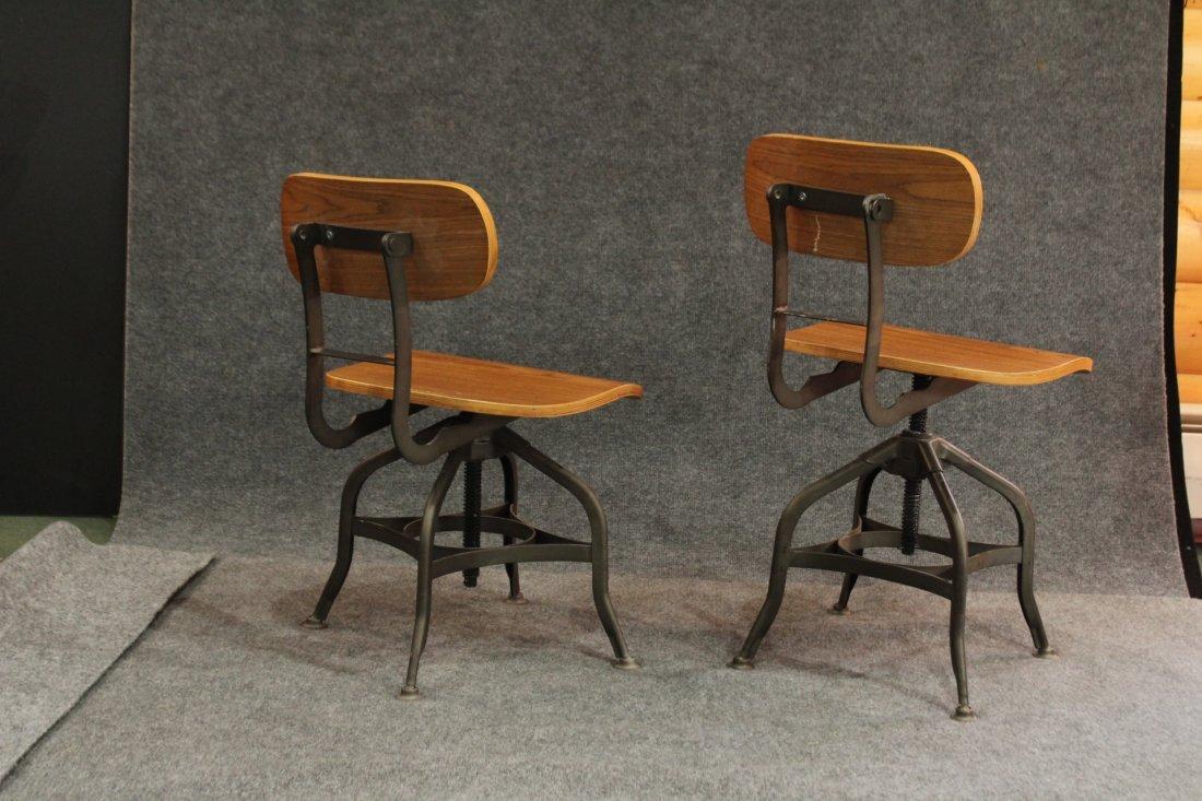7 Mid-century modern style industrial adjustable stools - 4
