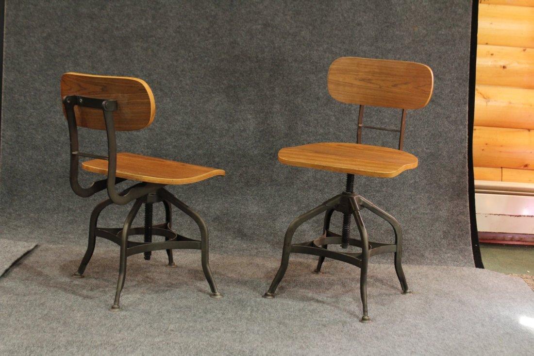 7 Mid-century modern style industrial adjustable stools - 5