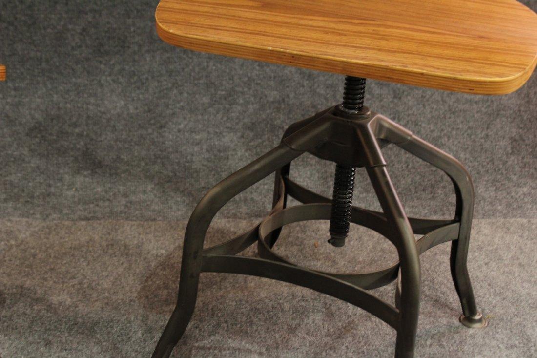 7 Mid-century modern style industrial adjustable stools - 6