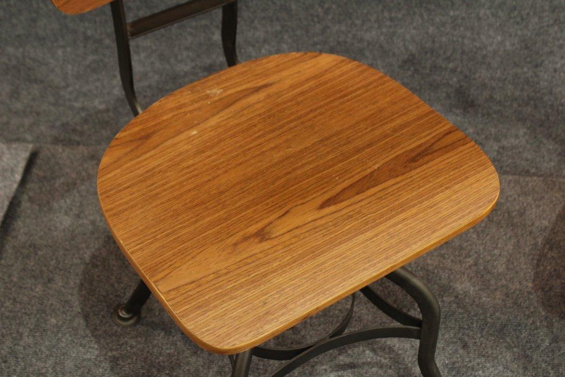 7 Mid-century modern style industrial adjustable stools - 7