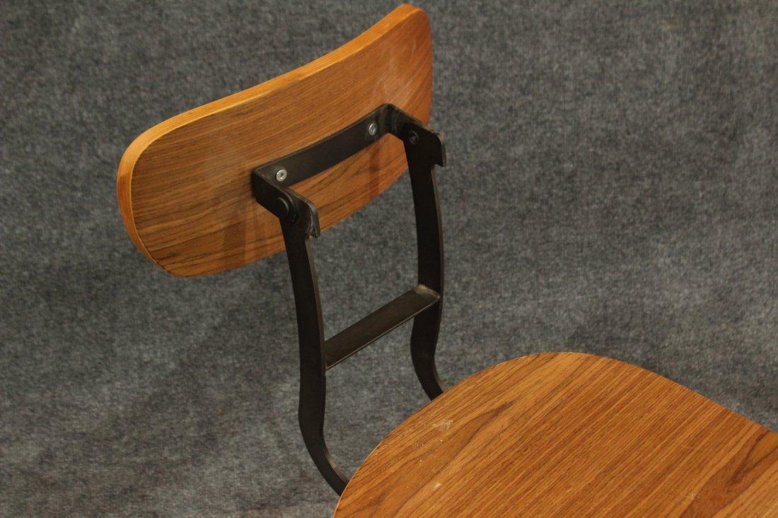 7 Mid-century modern style industrial adjustable stools - 8