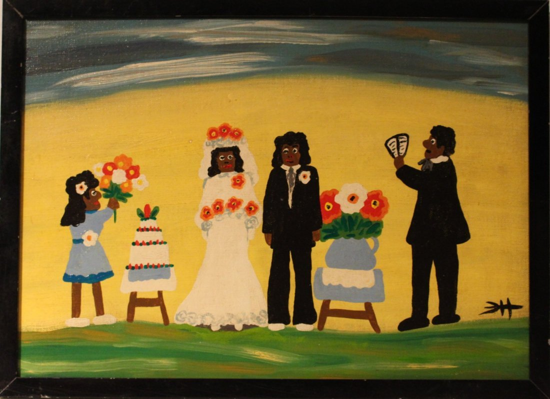 CLEMENTINE HUNTER OIL SOUTHERN PLANTATION FOLK WEDDING