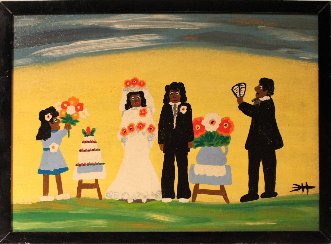 CLEMENTINE HUNTER OIL SOUTHERN PLANTATION FOLK WEDDING - 2