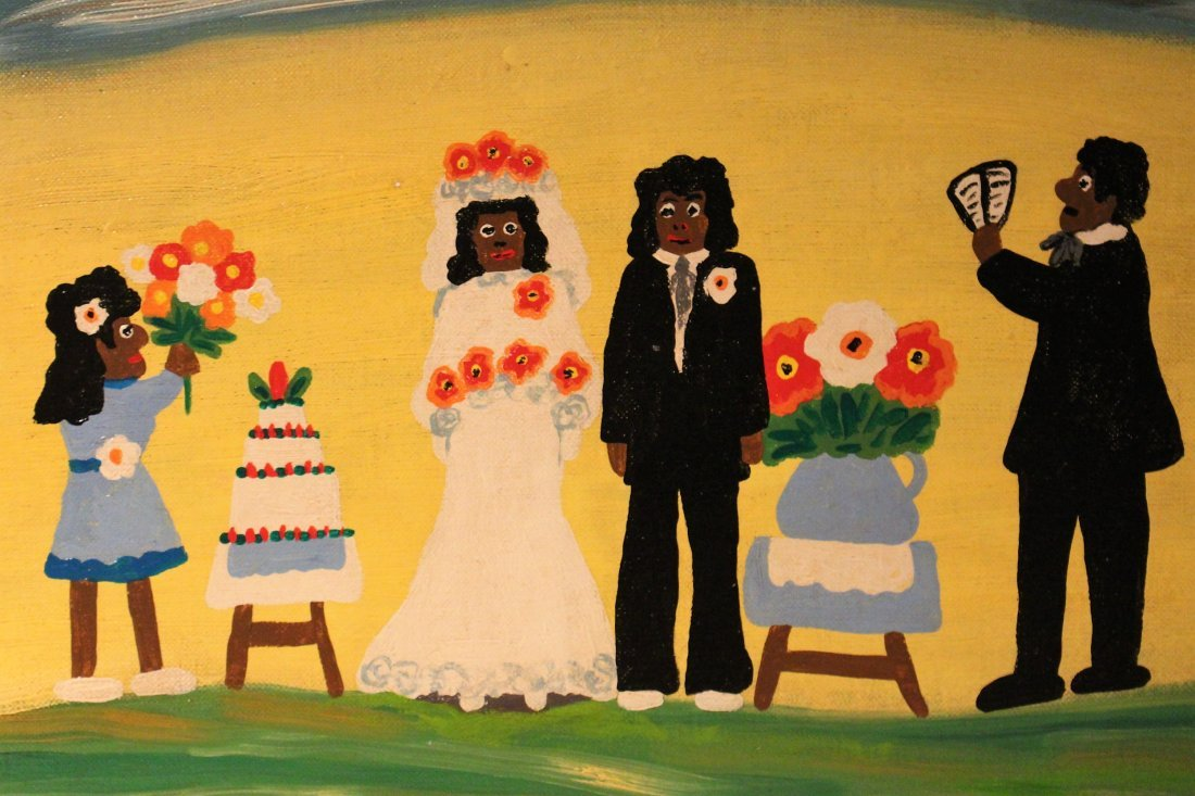 CLEMENTINE HUNTER OIL SOUTHERN PLANTATION FOLK WEDDING - 3