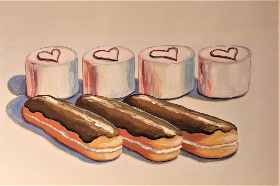 WAYNE THIEBAUD unsigned / attributed CANNOLIES CUPCAKES - 2