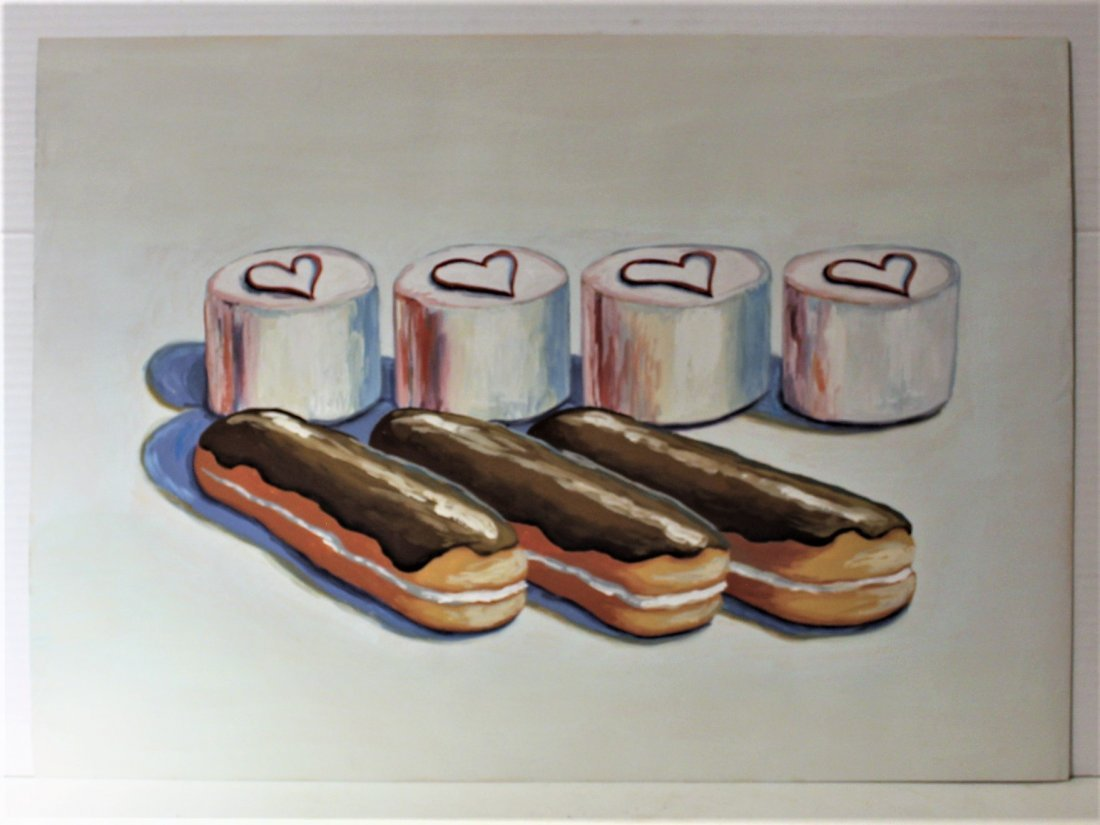 WAYNE THIEBAUD unsigned / attributed CANNOLIES CUPCAKES - 3