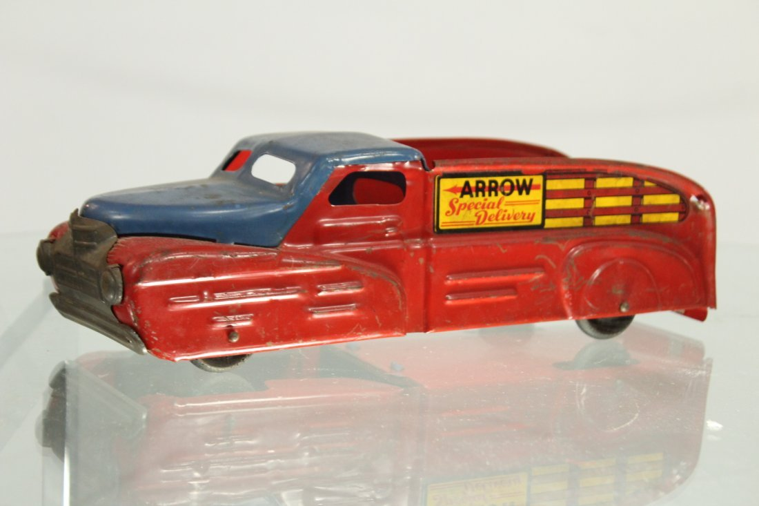 Antique PRESSED STEEL TRUCK ARROW SPECIAL DELIVERY - 4