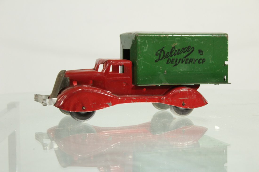 Antique PRESSED STEEL TRUCK DELUXE DELIVERY