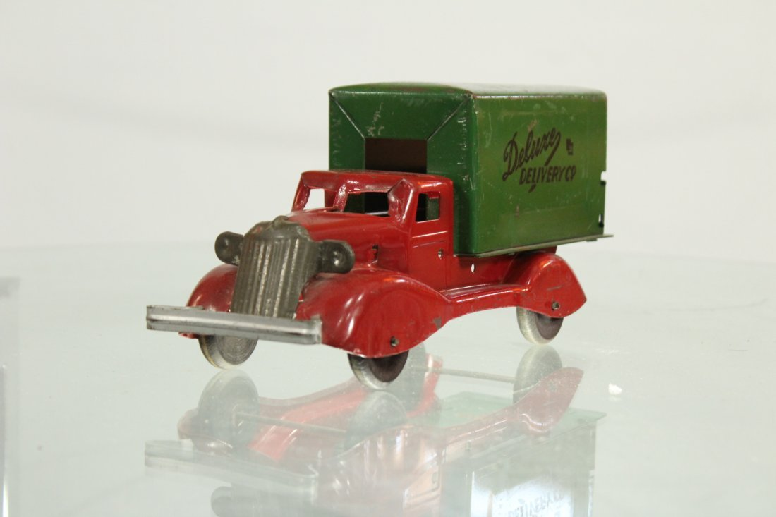 Antique PRESSED STEEL TRUCK DELUXE DELIVERY - 2
