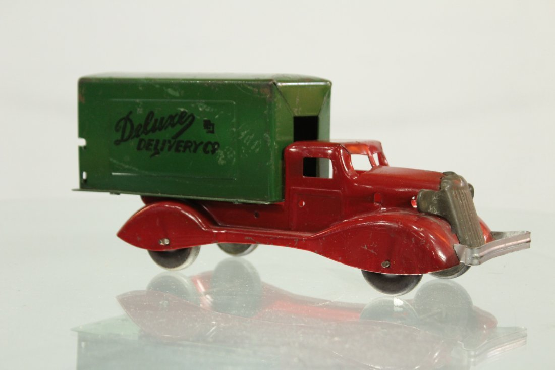 Antique PRESSED STEEL TRUCK DELUXE DELIVERY - 3