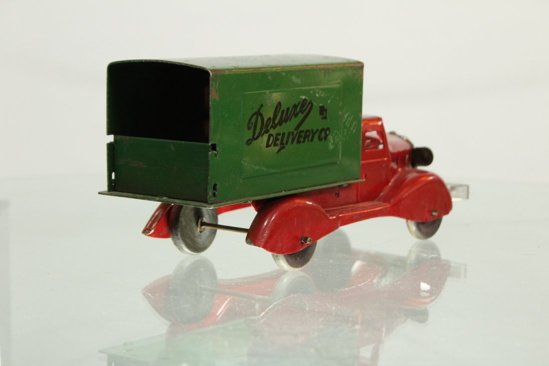 Antique PRESSED STEEL TRUCK DELUXE DELIVERY - 4