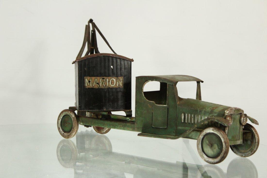 Antique PRESSED STEEL TRUCK EXCAVATOR - 3
