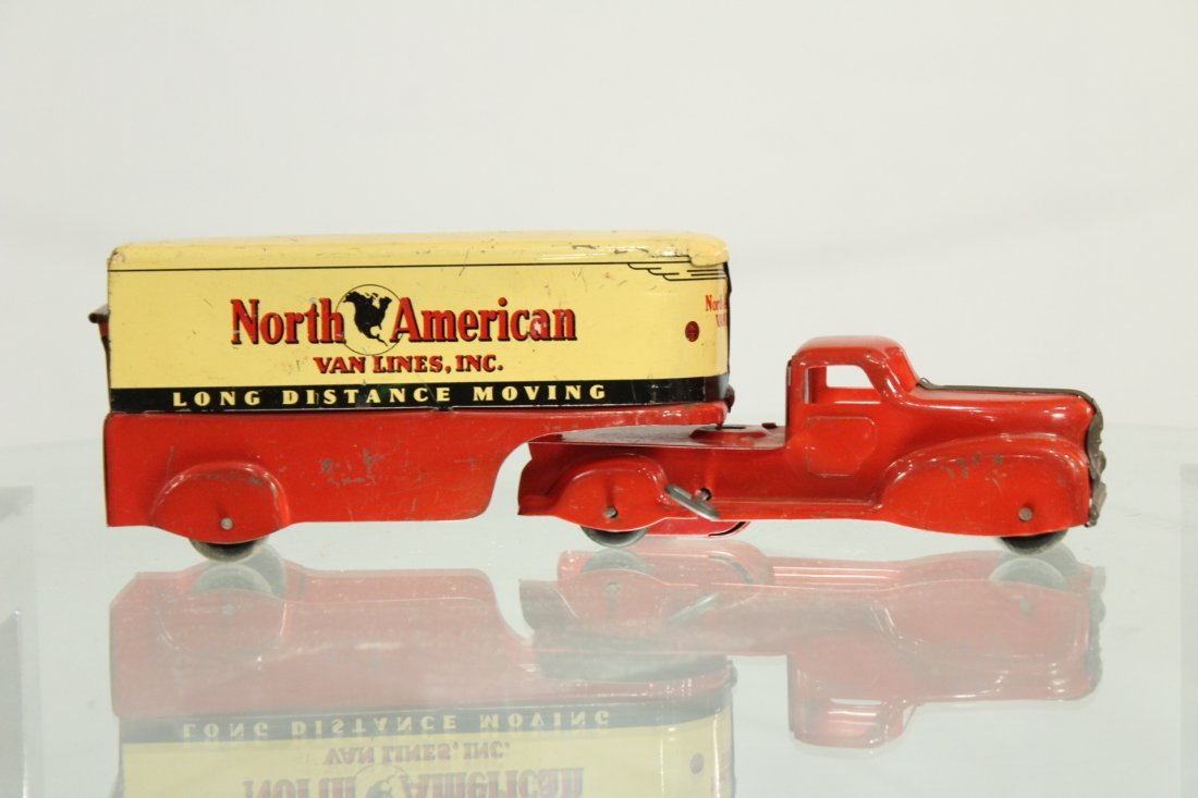 Antique PRESSED STEEL TRUCK NORTH AMERICAN VAN LINES
