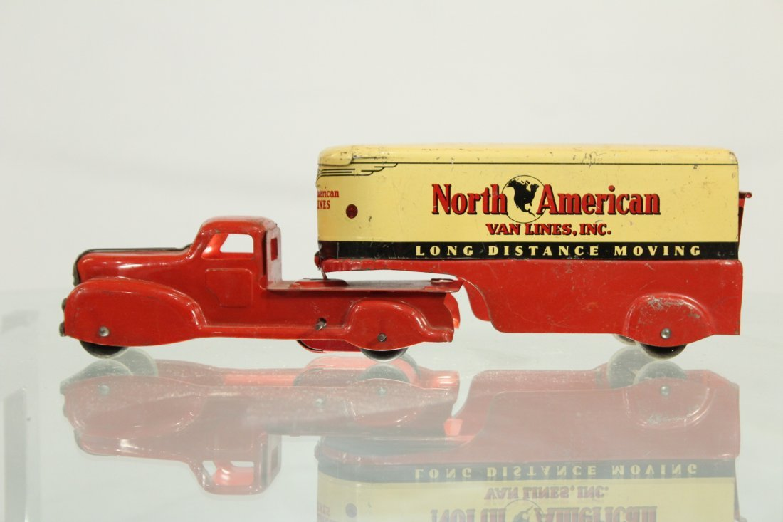 Antique PRESSED STEEL TRUCK NORTH AMERICAN VAN LINES - 3