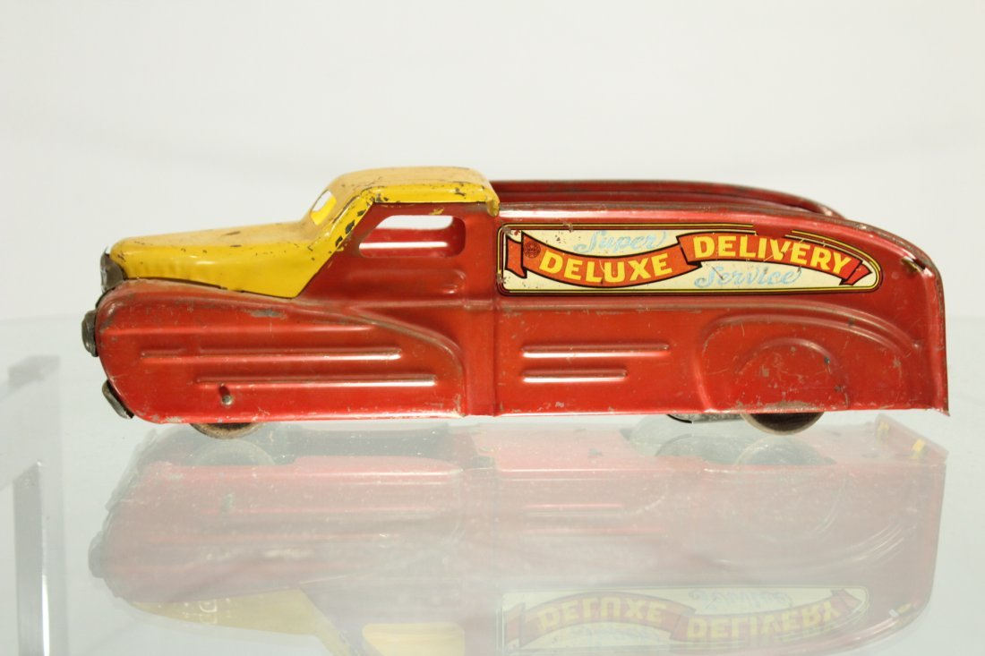 Antique PRESSED STEEL TRUCK MARX DELUXE DELIVERY