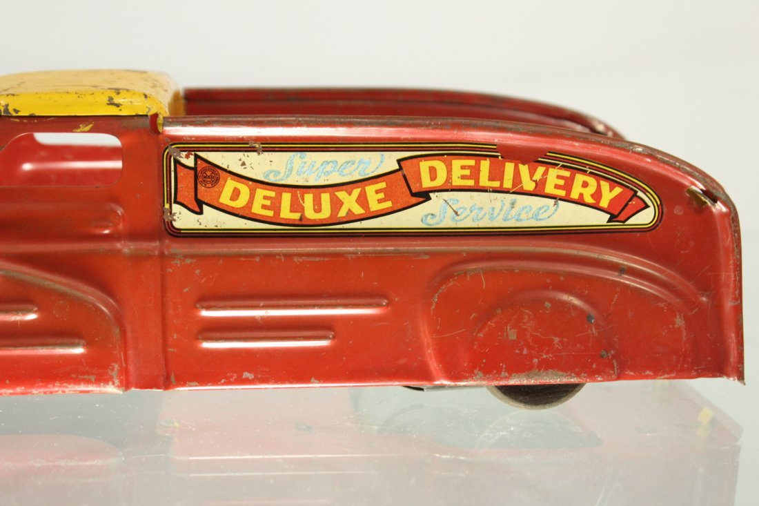 Antique PRESSED STEEL TRUCK MARX DELUXE DELIVERY - 2
