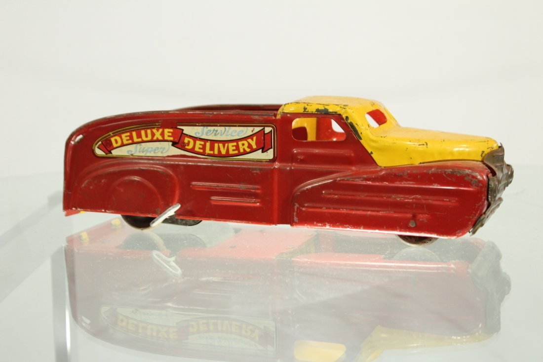 Antique PRESSED STEEL TRUCK MARX DELUXE DELIVERY - 4