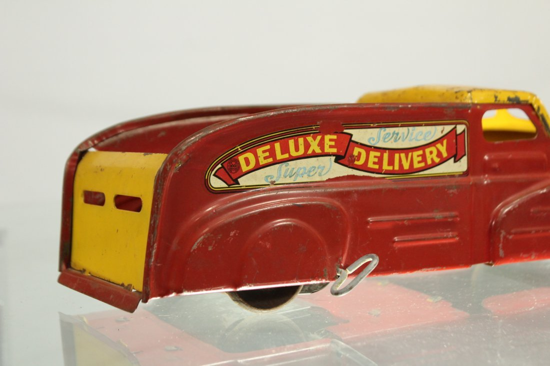 Antique PRESSED STEEL TRUCK MARX DELUXE DELIVERY - 5