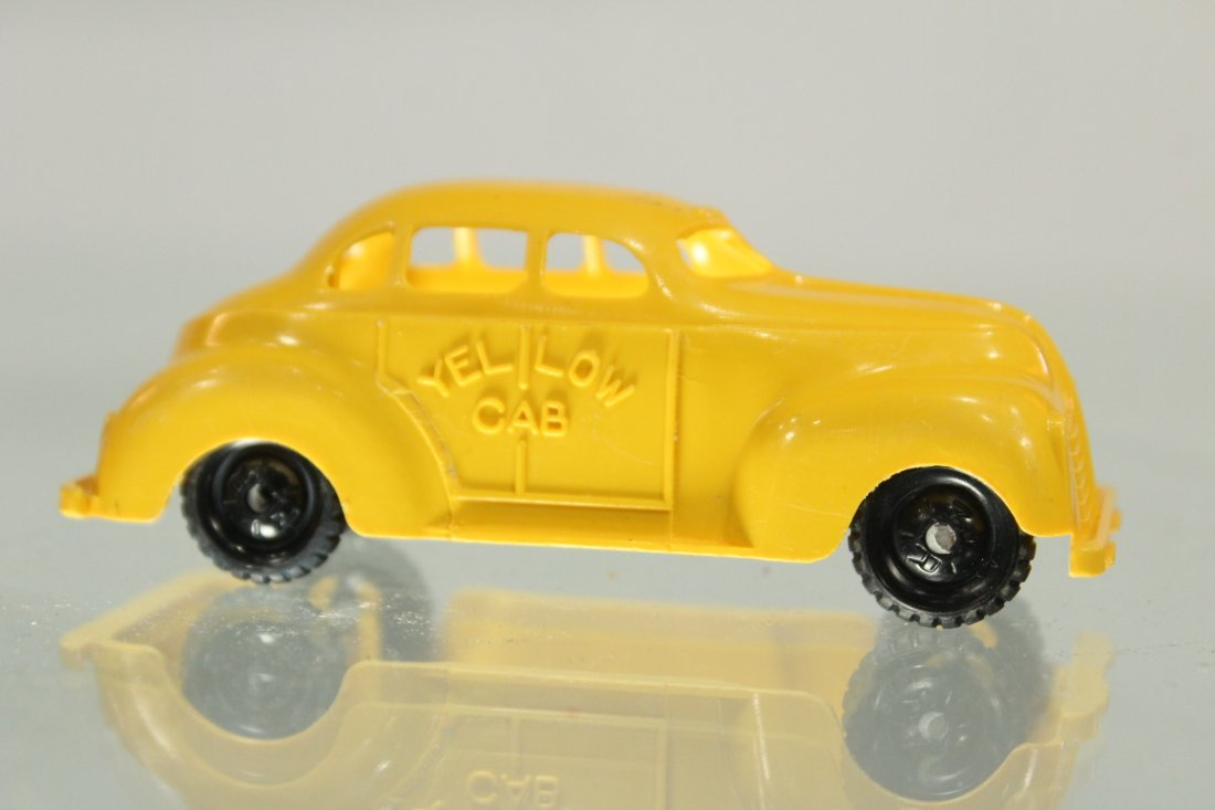 Antique PRESSED STEEL CAR CARRIER For YELLOW CAB TAXI - 7