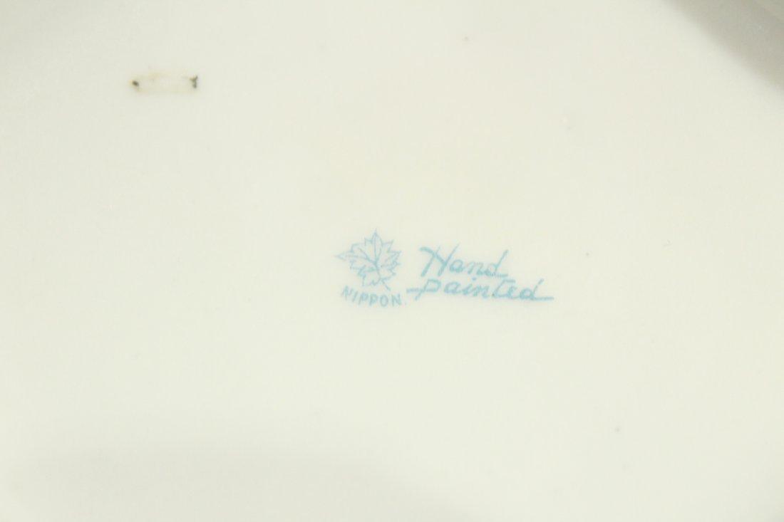 NIPPON - FLORAL HAND PAINTED PORCELAIN HANDLED VASE - 6