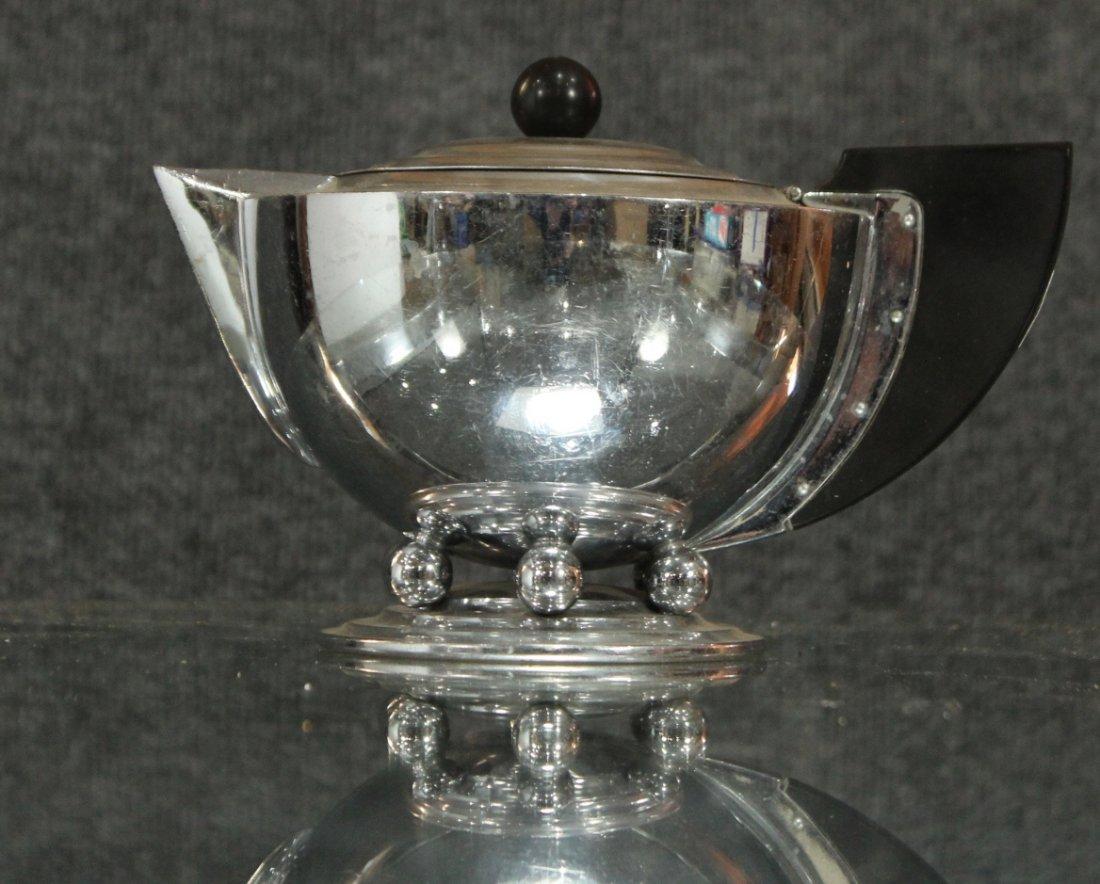 MANNING BOWMAN Silverplate ART DECO HIGH DESIGN TEA POT