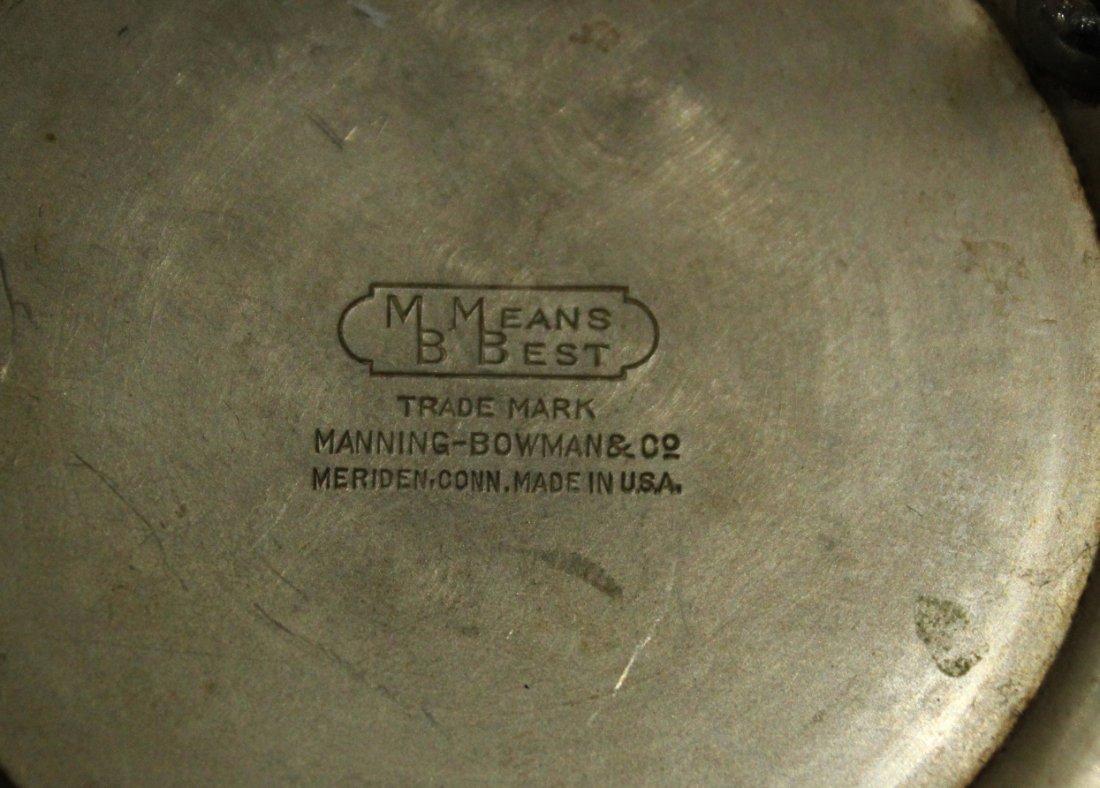 MANNING BOWMAN Silverplate ART DECO HIGH DESIGN TEA POT - 5