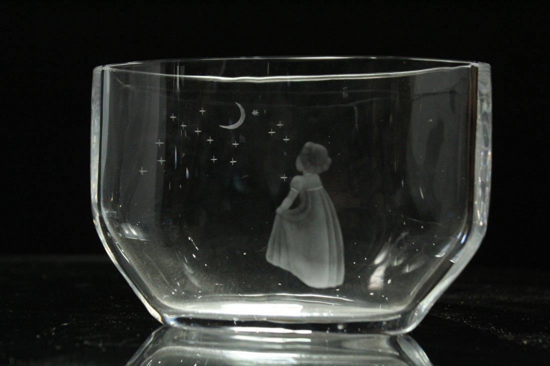 ORREFORS Mid Century Modern TWO [2] GLASS VASES - 2