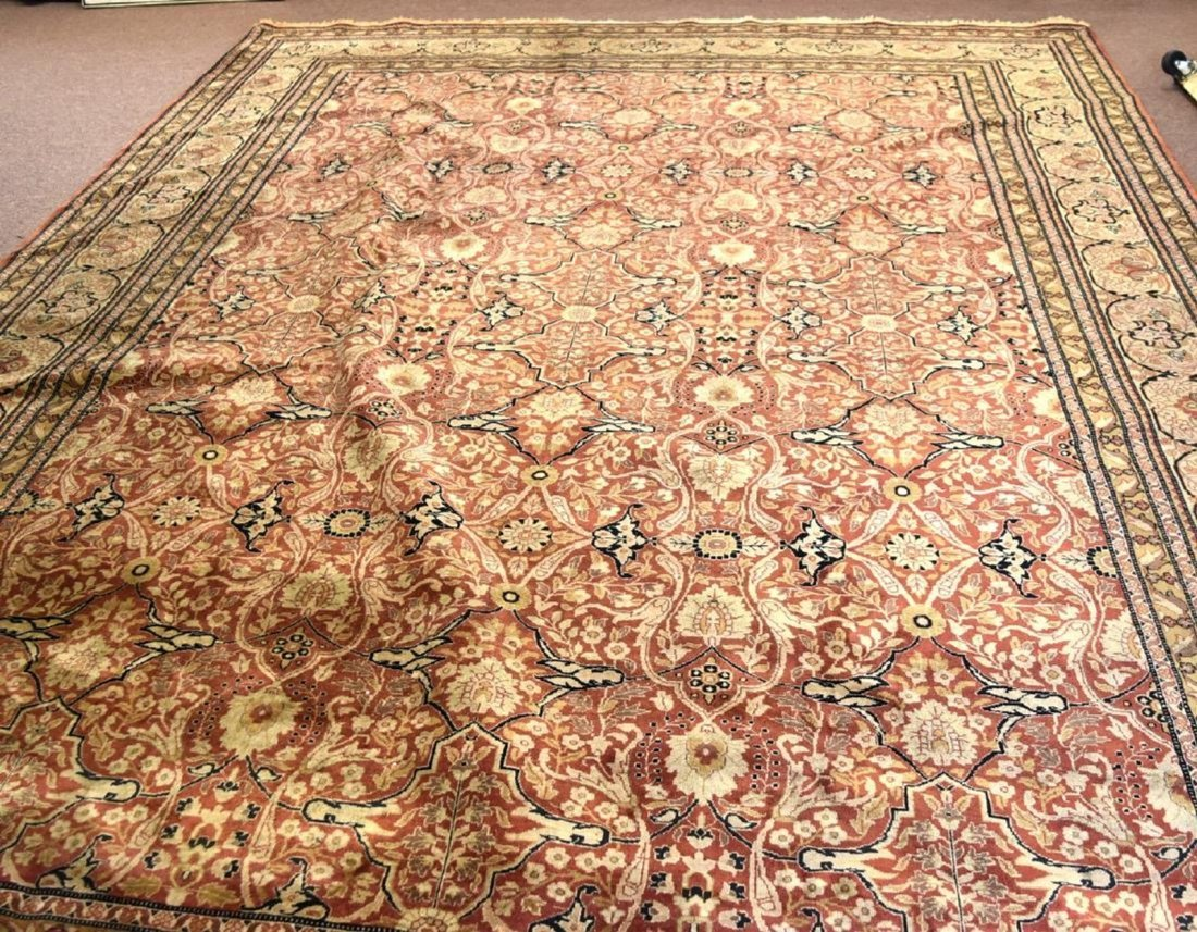 KIRMAN HAND MADE WOOL ROOMSIZE ORIENTAL RUG 13.10 x 9.8