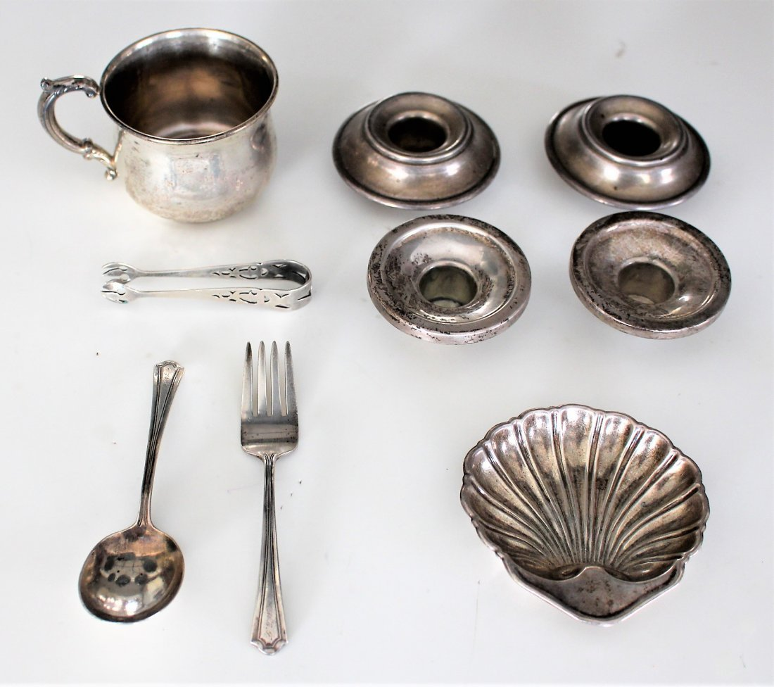 9-PC. ASSORTED STERLING SILVER GROUPING 8.59 OZ.