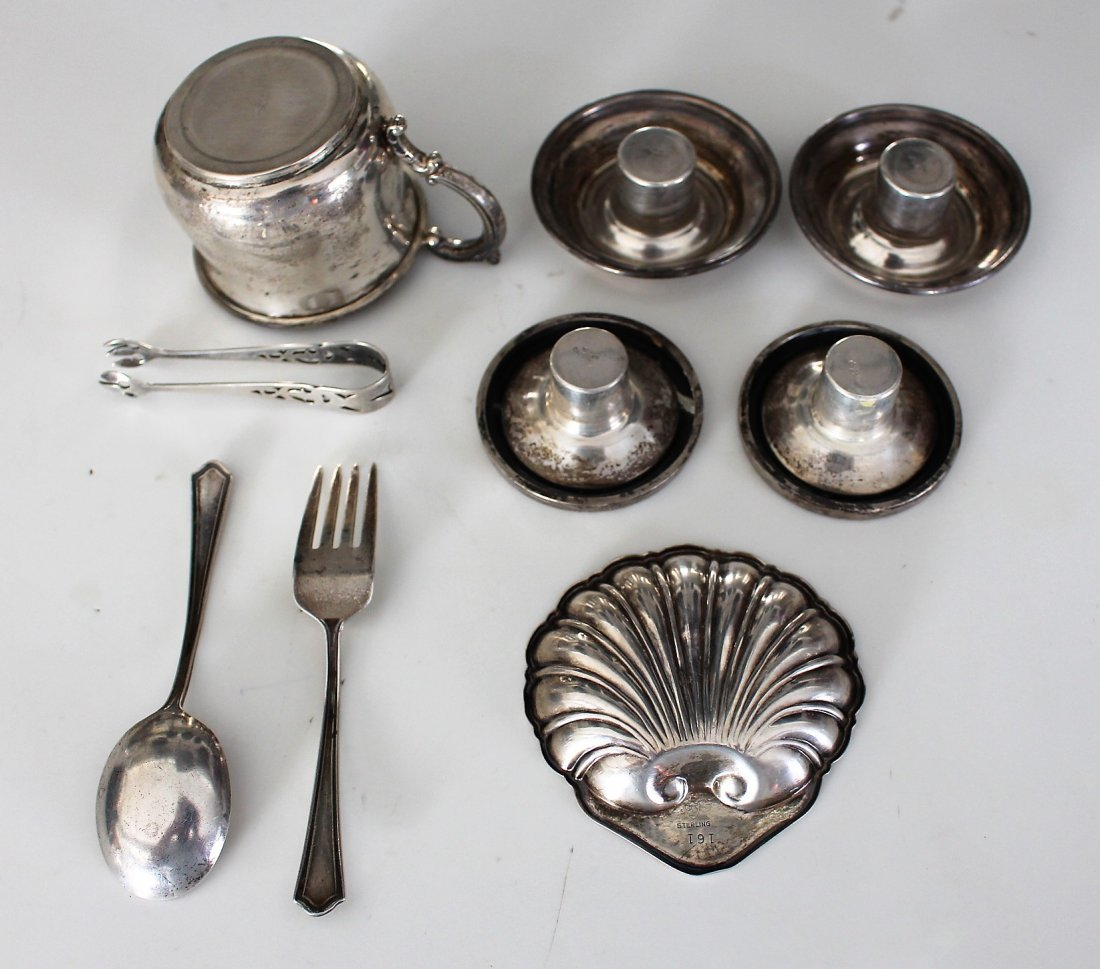 9-PC. ASSORTED STERLING SILVER GROUPING 8.59 OZ. - 3