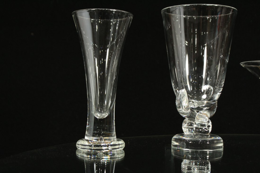 6 ASSORTED PIECES OF STEUBEN GLASS VASES w/ BOOK - 3
